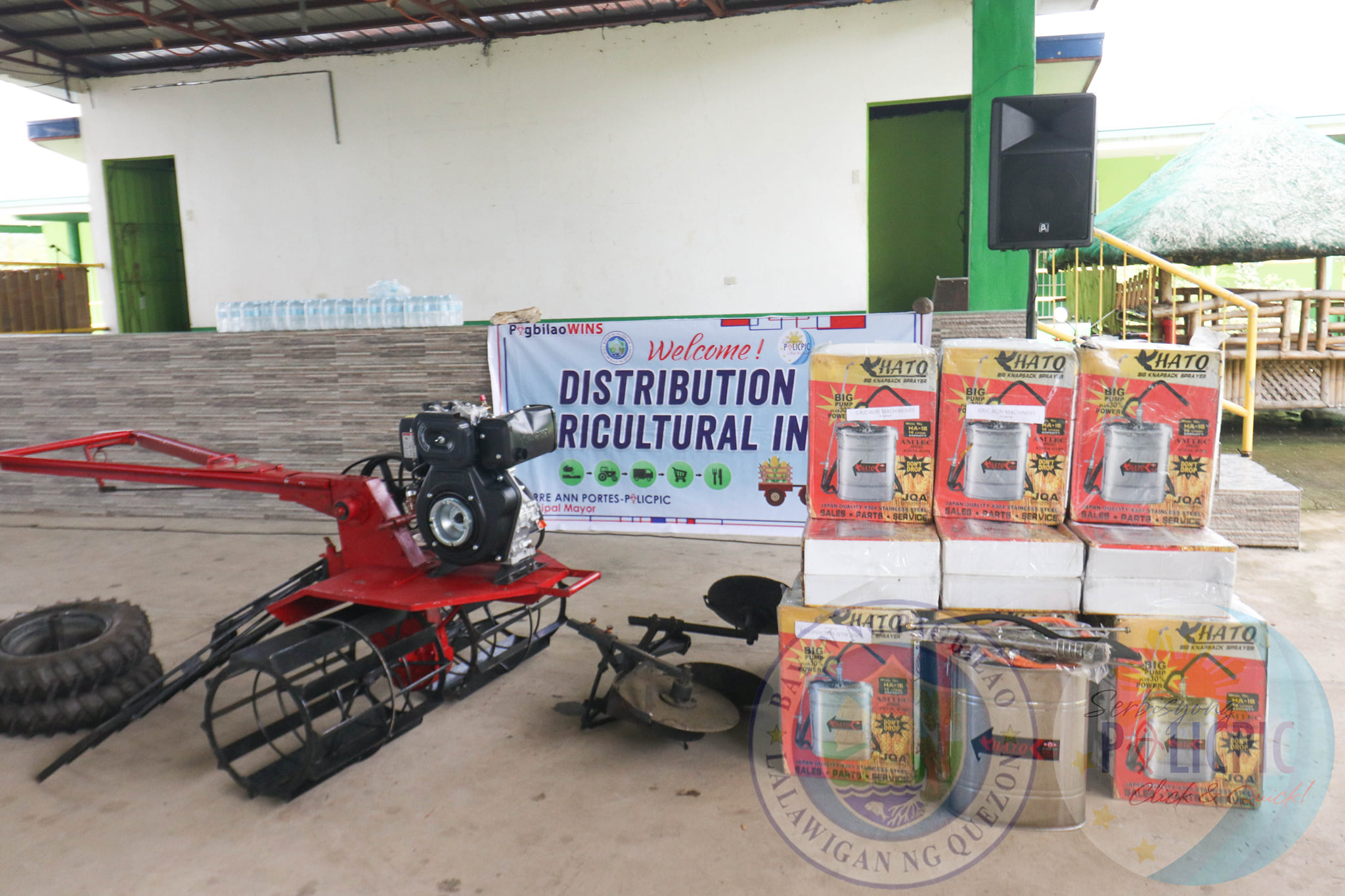 Distribution of 13 Units of Hand Tractors and 27 Units of Knapsack Sprayers