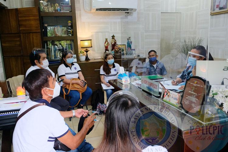 Pulong sa pagitan ni Mayor Shierre Ann at kinatawan ng DPWH Quezon