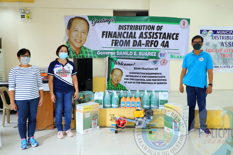 Distribution of Cash Assistance from DA-RFO 4A (ASF)