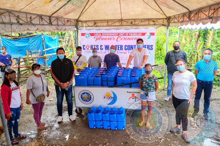 Distribution of Water Container and Carts