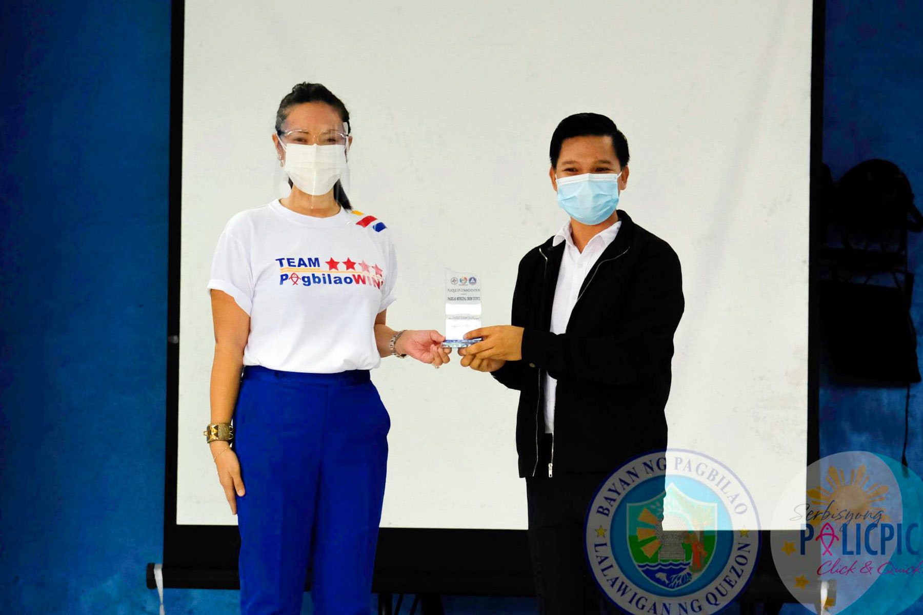 Awarding of Plaque of Commendation