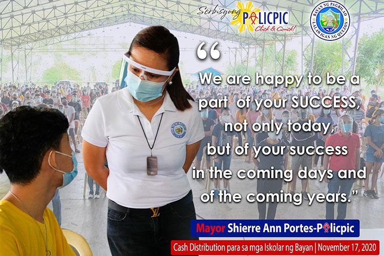 Cash Distribution para sa mga Iskolar ng Bayan
