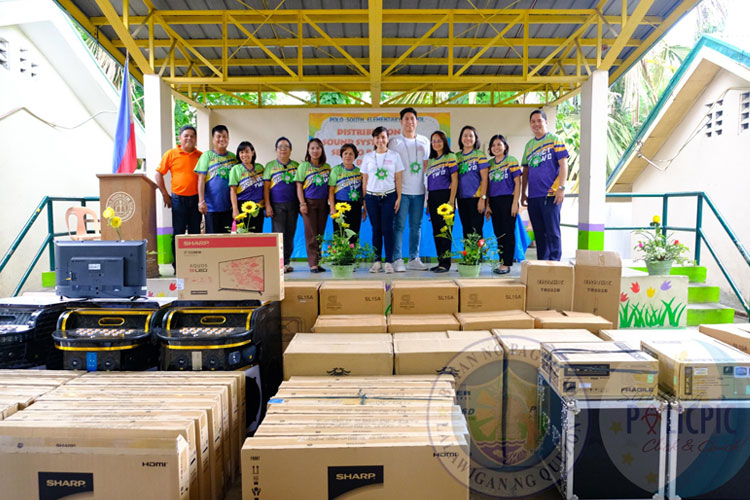 Distribution of Sound Systems and TV Sets to Pagbilao 2 District.