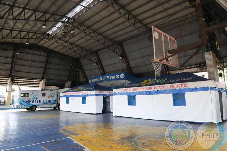 Medical Triage sa Pagbilao Municipal Covered Court, Nakahanda na