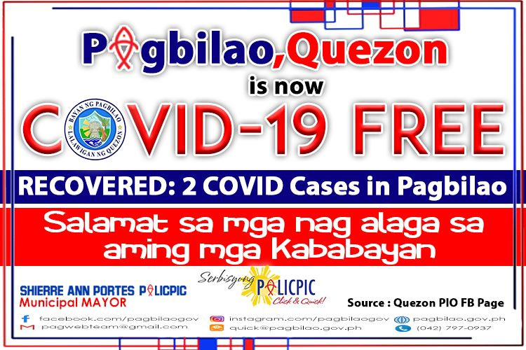 Pagbilao, Quezon is now COVID-19 FREE