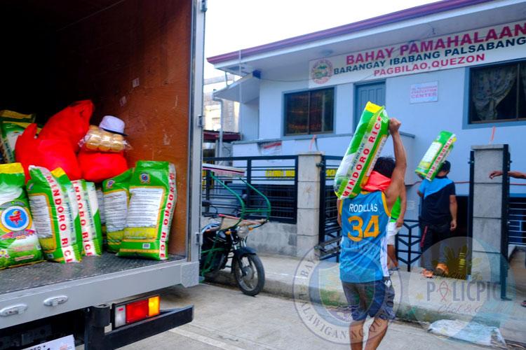 Rice Distribution - Brgy. Ibabang Palsabangon