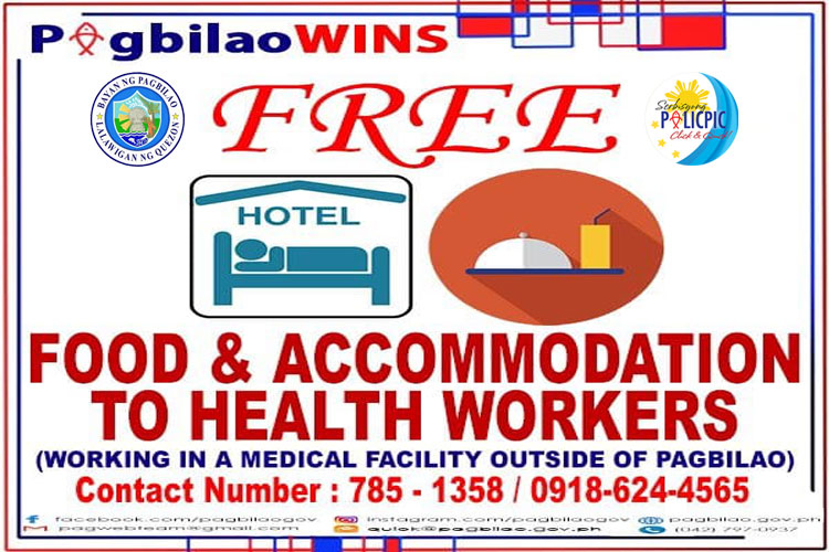 Free Food & Accommodation to Health Workers